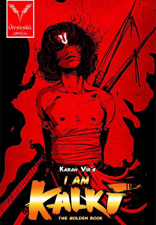 I am Kalki The Golden Book Vol 0 Award Winning Cover  for the Best cover 2011 Comic Con India awards 2012 Vimanika comics