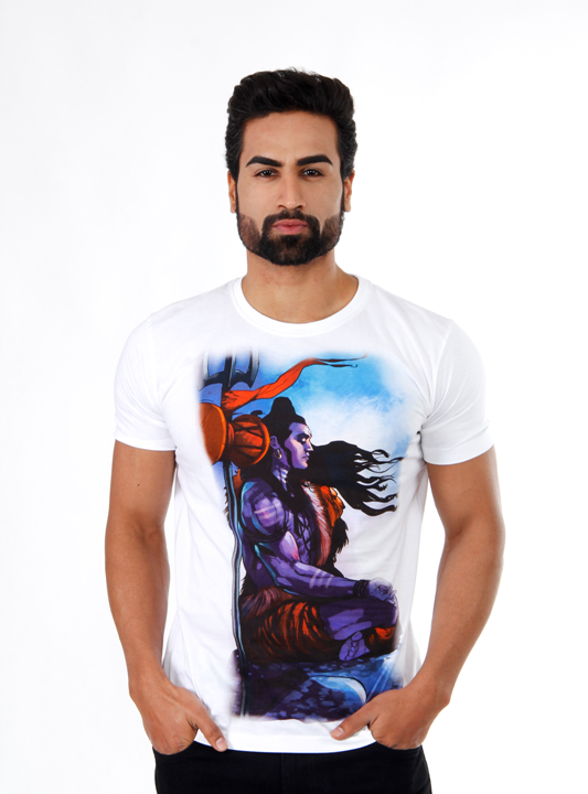 Shiva Meditation White Men T-Shirt
