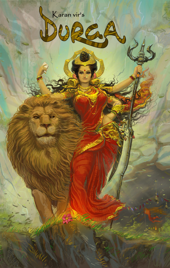 durga-with-k-v-for-website-vimanika-comics